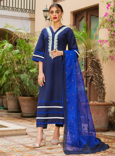 Zainab Chottani Blue Dress 2020