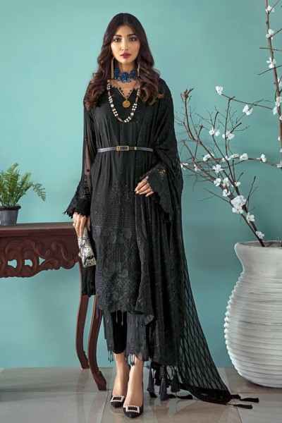 Gul Ahmed Black Dress Collection 2020